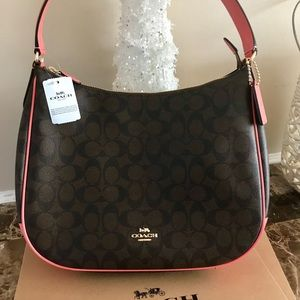Signature Coach Shoulder Handbag. Brand new!